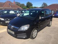 2005/55 VAUXHALL ZAFIRA 1.6i 16V LIFE 5 DOOR BLACK,GREAT FAMILY 7 SEATER,LOOKS AND DRIVES WELL
