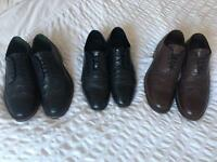 3 pairs of men's shoes - size 10
