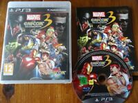PLAYSTATION 3 GAME FOR SALE MARVEL VS CAPCOM 3 FATE OF TWO WORLDS excellent condition with manual