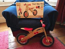 Tidlo Wooden Balance Bike (with original box)