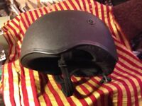 Horse Riding Helmet/Hat - size 7 and a quarter, Justtogs, black