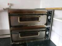 Commercial double deck single phase pizza oven