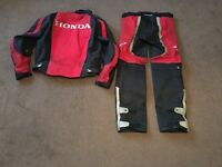 Honda textile jacket and Spada textile trousers size small