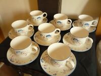 8 Tea Cups & Saucers 'Expressions ' by Royal Doulton