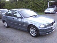 BMW 318i SE 4-DOOR SALOON 2001. VAST SERVICE HISTORY, 12 MONTHS MOT, EXCELLENT SOUND CONDITION.