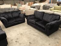 Brand new navy crushed velvet 3+2 seater sofa