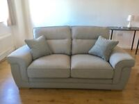 Oak Furniture Land Kirby 2 seater sofa silver. Never used,as new. In perfect condition