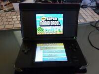Nintendo ds black with super Mario Bros & Red Case