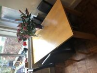 Dining room Table and 4 Chairs - £80
