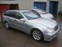 Mercedes C200 CDI SE Auto,2148 cc 5 dr Estate,full MOT,full black leather interior,dog guard,alloys