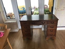 Desk with drawers.