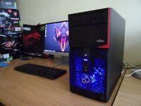 Very fast upgraded Fujitsu Gaming PC - i3 4130, 8GB DDR3, GTX 750, 500GB HDD - Windows 10