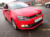 VOLKSWAGEN POLO 1.4 TDI 90 SEL 5DR (red) 2014