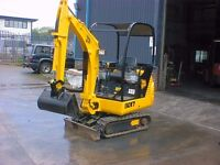 jcb mini digger excavator ideal for ponds patios footings south bristol areas