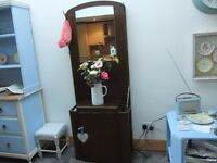 vintage coat rack / hallstand with mirror
