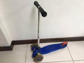 Blue micro scooter