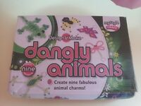 Childrens crafts: Design & Make - Dangly Animals (brand new unopened) - makes 9 animal charms