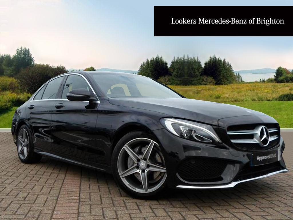 mercedes benz c class c200 d amg line premium black 2016 05 27 in portslade east sussex. Black Bedroom Furniture Sets. Home Design Ideas