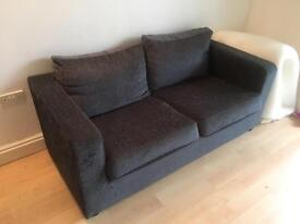 **Worldstores 2 Seater Sofa Bed Grey**