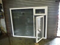 UPVC large window x3 double glazed good glass can deliver