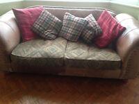 Thomas Lloyd Leather 3 Seater Vintage Lexington Sofa