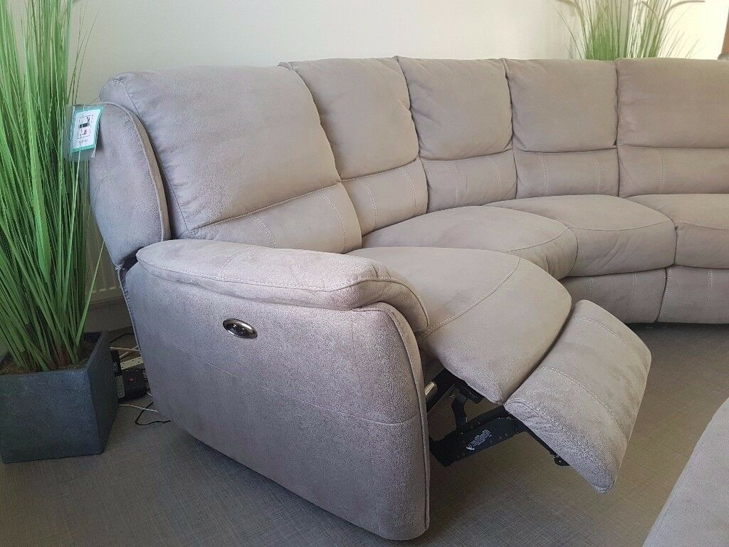 Curved 4 Seater Electric Recliner Sofa In Chester