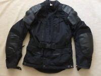 "Hein Gericke waterproof textile and leather motorbike jacket. Euro size 52, UK 40/42"""