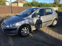1.4 diesel Peugeout 307 full history £30 road tax