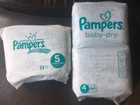 Pampers nappies size 4 and 5