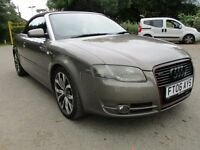 2006 06 AUDI A4 2.0 S LINE FSI AUTO CONVERTIBLE FSH FULL MOT LOW 93K SUCH A LOOKER WOW PX SWAPS