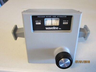 Waveline Precision Rotary Vane Waveguide Attenuator Wr-90 8-12 Ghz X-band