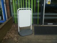 WHITE PIVOT SWING SIGN - NEW - not branded