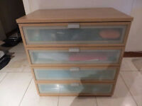 IKEA HOPEN chest of drawers with glass front