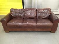 """Large leather three seater """"FREE LOCAL DELIVERY """""""