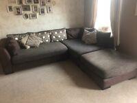 Brown corner sofa - comfortable and big, good condition!
