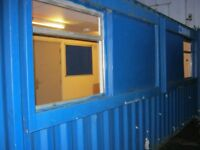 21ft x 10ft Anti Vandal Portable Cabin KITCHEN / LIGHTS & HEATING site office shipping container