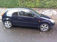 Ford Fiesta 1.4 TDCi LX. MOT, Service history, CD, Electric windows & mirrors. VGC £800 ONO