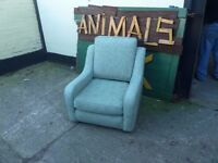 Green Fabric Armchair Delivery Available