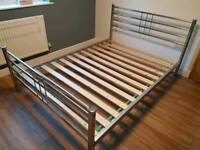 Double size chrome frame bed