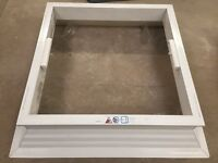 Double Skin Rooflight with White PVC venilated kerb. Approx 1100mm x 1100mm