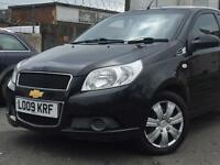 2009( 09 ) CHEVROLET AVEO LS 1.2 5 DOORS BLACK * 100% HPi CLEAR * FINANCE AVAILABLE *