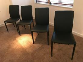 JOHN LEWIS black faux leather dining room chairs