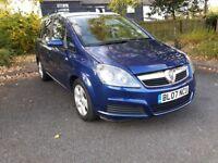 2007 07 Vauxhall Zafira 1.8 petrol Design 7 seater MPV 11 months MOT