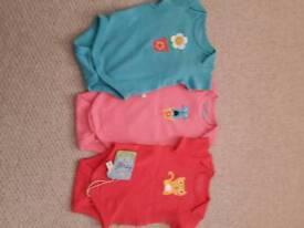 Frugi Newborn Girls Vests