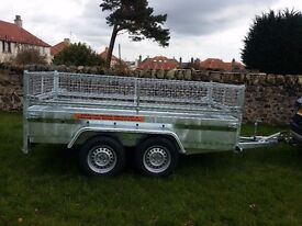 New car trailer twin axle with mesh and brakes 10 x 5 2.7 Ton