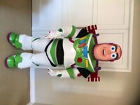 Buzz Lightyear deluxe Mascot Costume fancy dress with fibreglass head