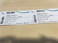 Two tickets to see James Arthur & Ella Henderson at The Genting Arena, Birmingham on Sat 25th Nov