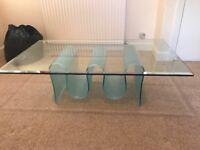 Unique glass coffee table
