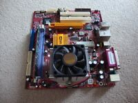 Mother Board with Heat Sink, CPU & DDR 400 512 MHz