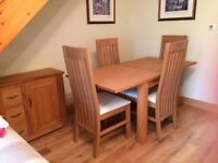 NEXT oak Dining table and chairs + unit